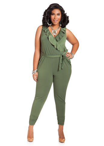 Web Exclusive: Ruffle Front Jumpsuit