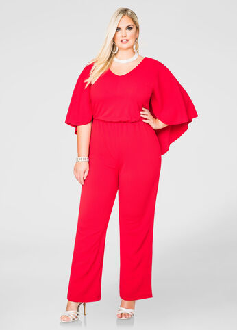 Wide Leg Cape Jumpsuit
