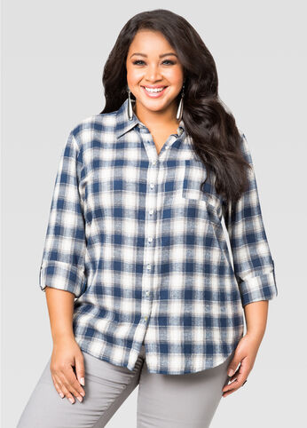 Metallic Flannel Shirt