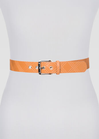 Textured Silver Hardware Belt