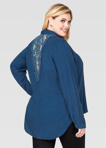 Crochet Lace Jean Shirt