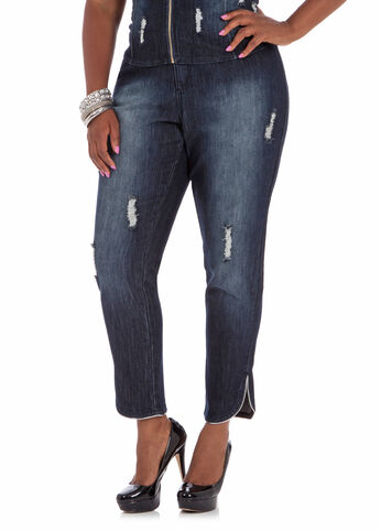 Destructed 29inch Jeans