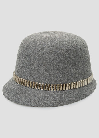 Metal Hardware Felt Hat