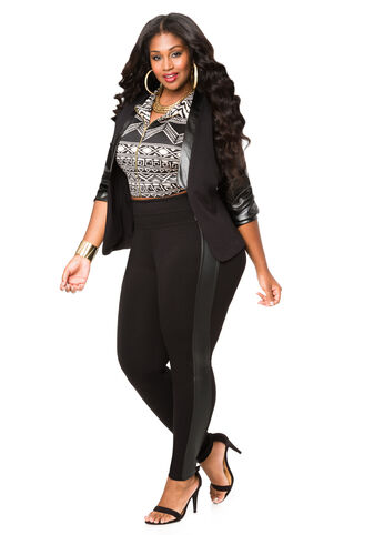 Faux Leather Ponte Jegging