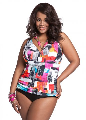 Web Exclusive: Art Print Tankini Top
