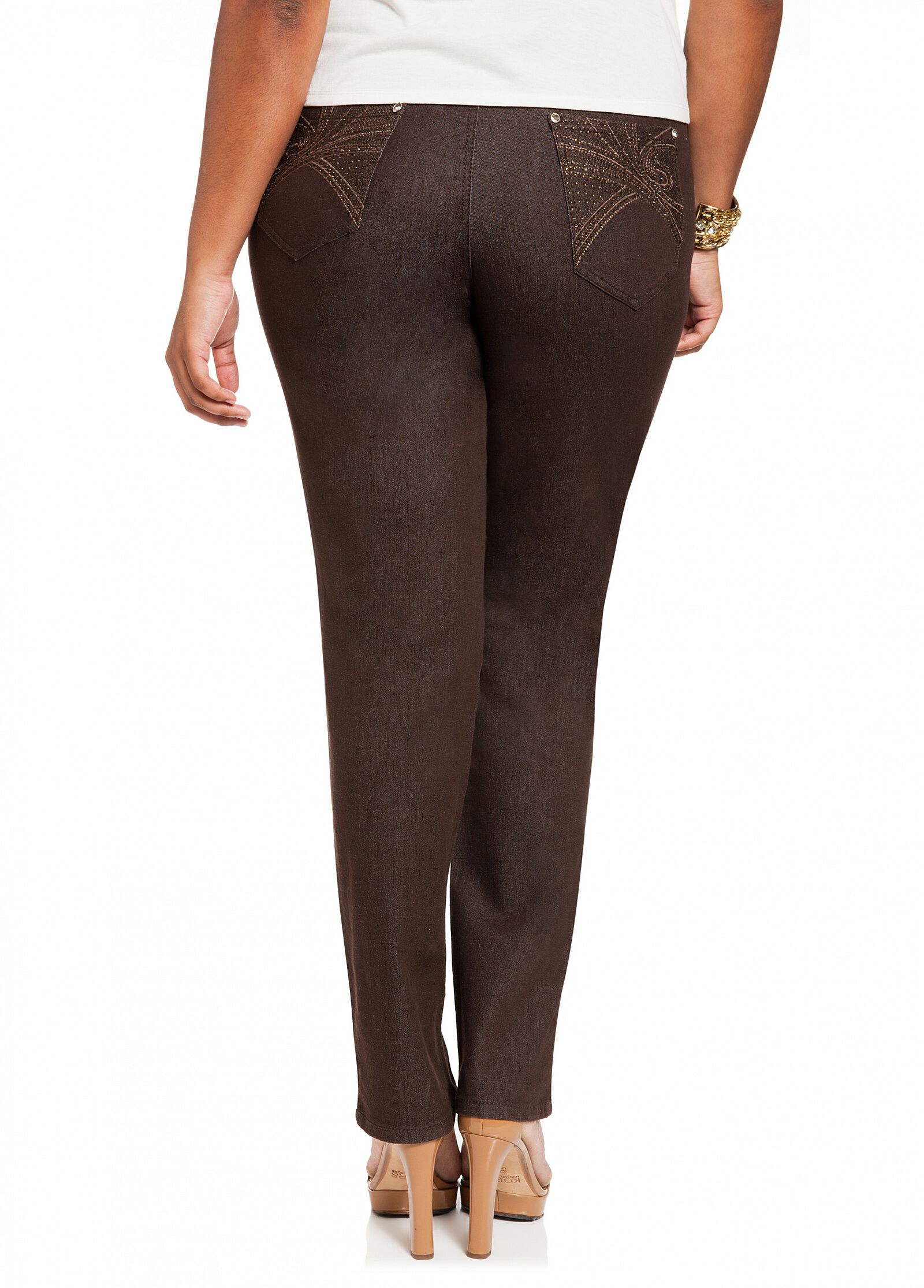 Plus Size Embellished Jeans zF5Q1zfK