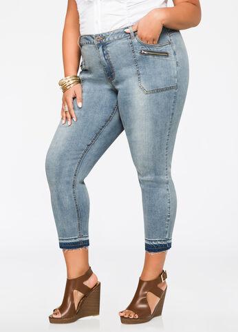 Release Hem Cropped Jeans