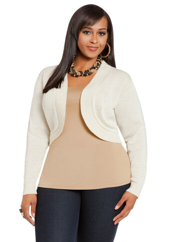 Lurex Cropped Shrug