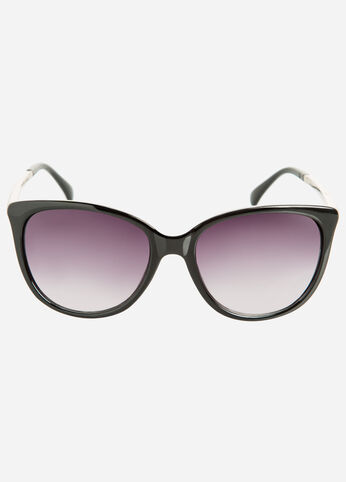 Embossed Cat Eye Sunglasses