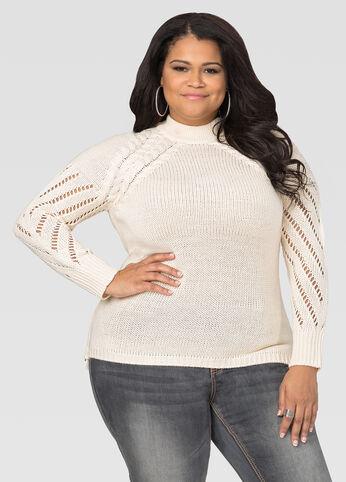 Mock Neck Side Zip Sweater