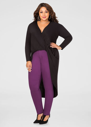 Surplice Twist Front Duster