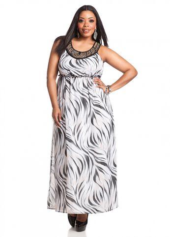 Jewel Embellished Maxi Dress