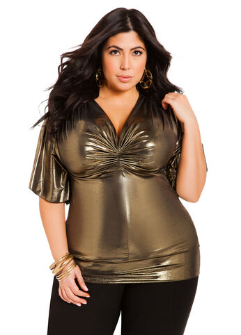 Gold Lame Top