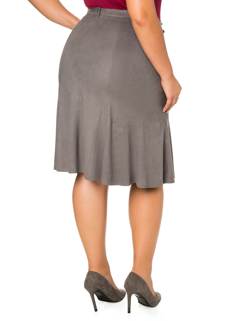 faux suede a line midi skirt plus size skirts stewart