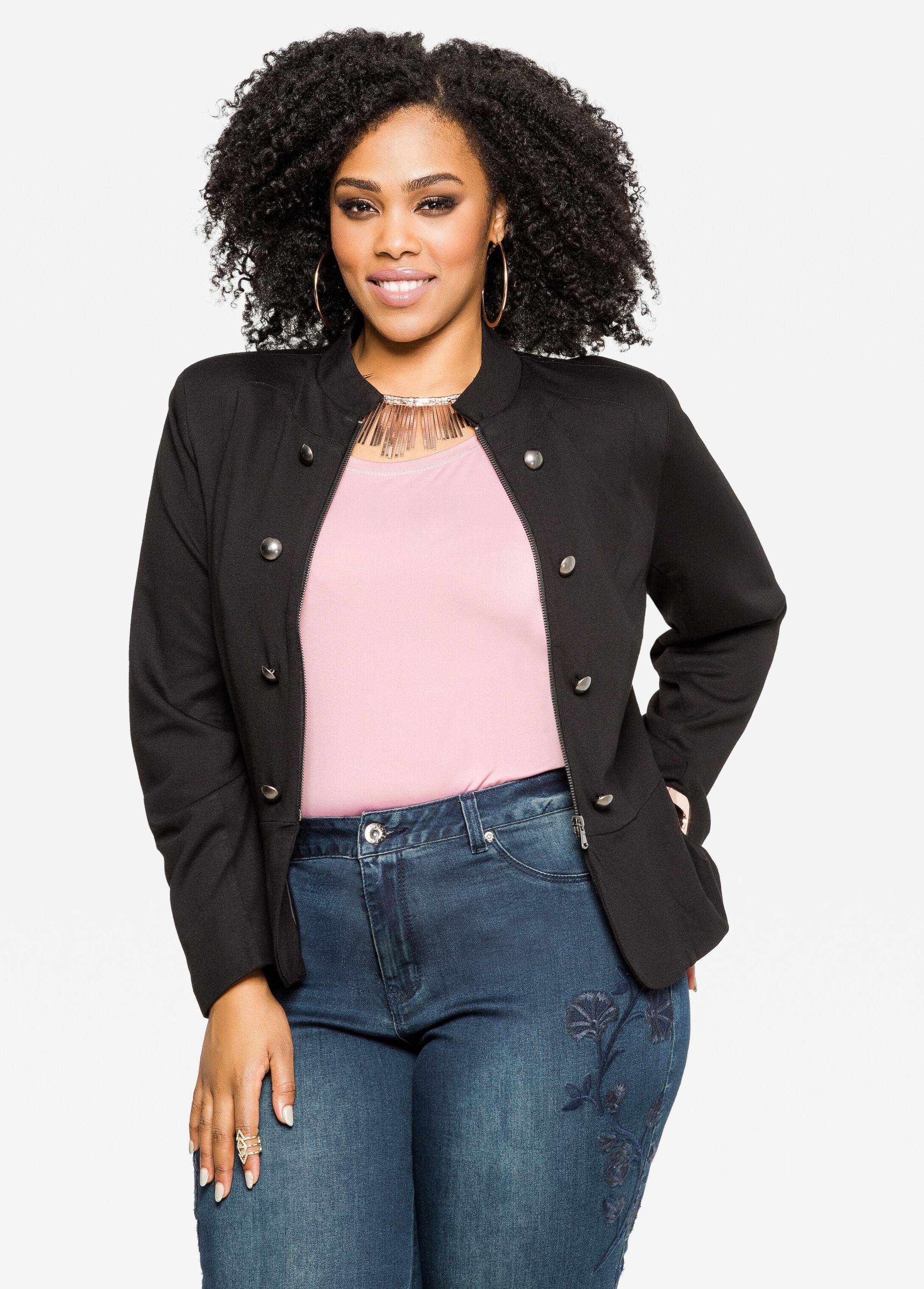 Buy Plus Size Black Blazer - Ashley Stewart