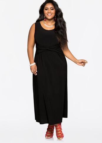 Twist Waist Maxi Dress