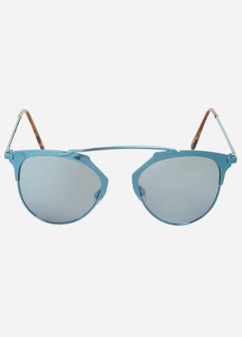 Semi-Rimless Clubmaster Sunglasses