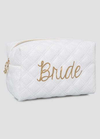 Bride To Be Quilted Make-Up Bag