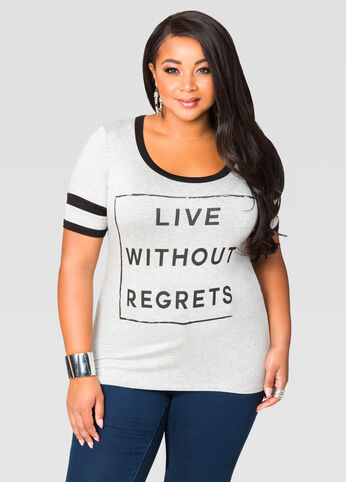 Live Without Regrets Tee
