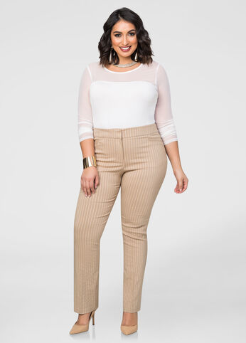 Striped Straight Leg Trouser Pant