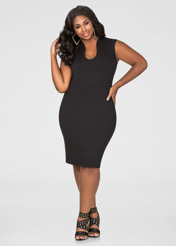 U-Neck Bodycon Dress