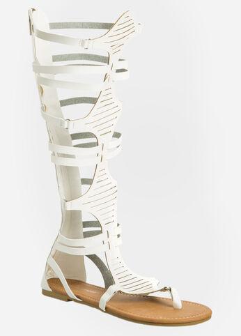 Slit Gladiator Sandal - Wide Calf, Wide Width