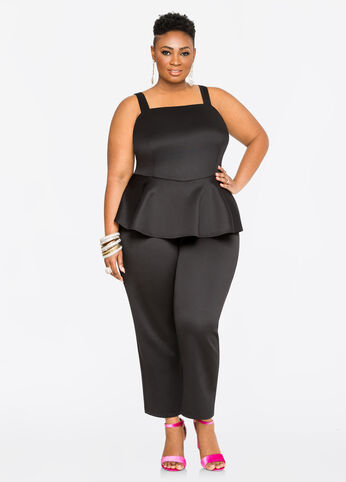 Techno Peplum Jumpsuit