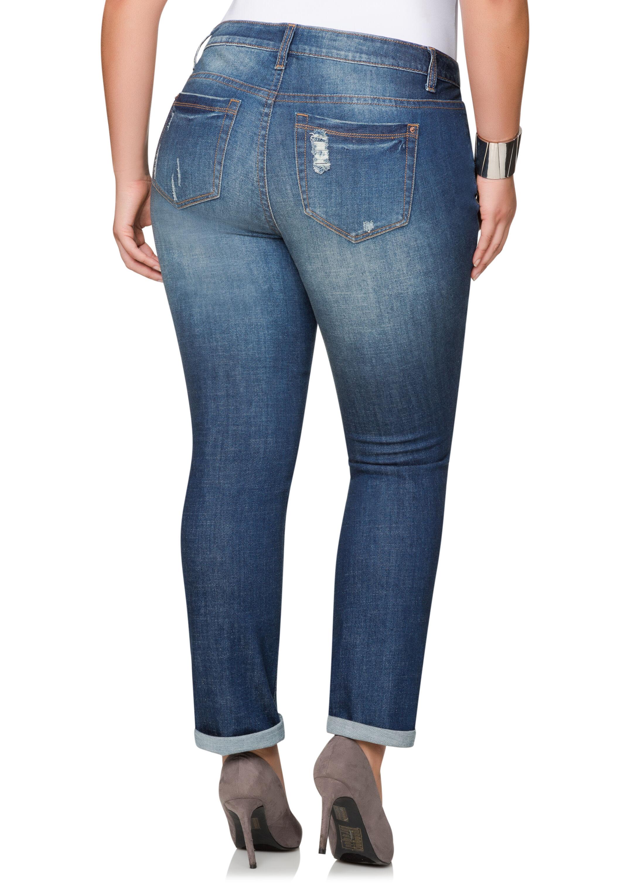 Destructed Bootcut Jeans