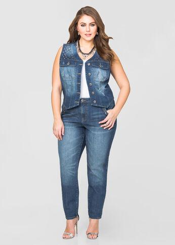 Stud Pocket Skinny Jean