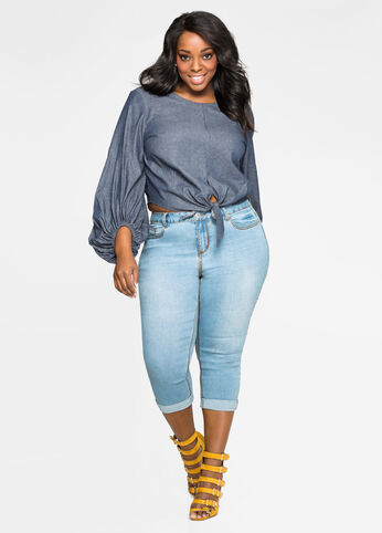 Cuffed Capri 5-Pocket Jean