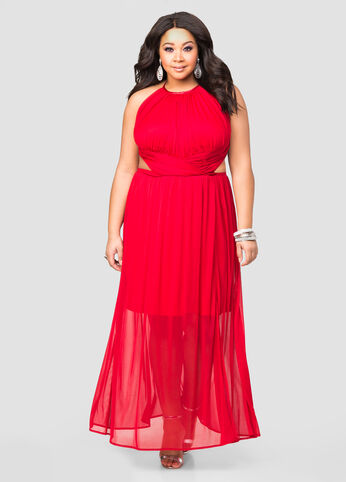 Open Side Halter Gown