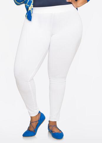 Classic White Ponte Legging