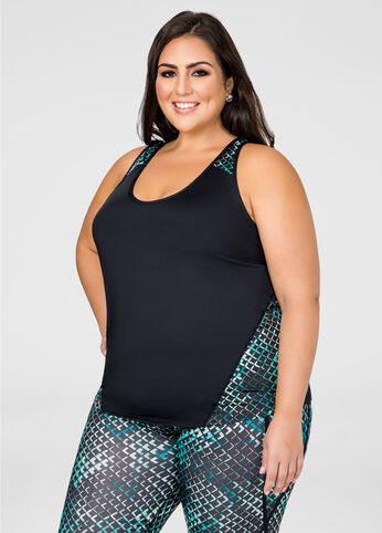 Geo Racerback Active Tank Top