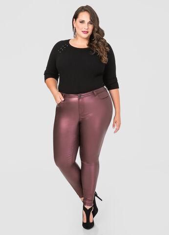 Coated 5-Pocket Skinny Jean
