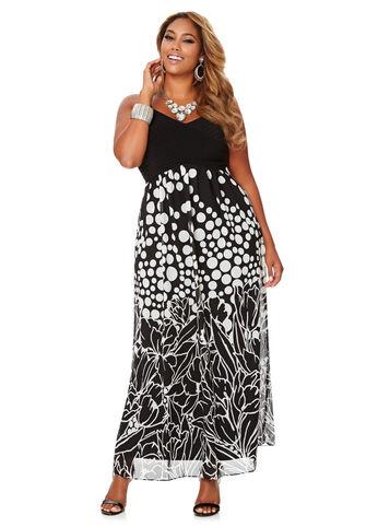 Floral Dot Maxi Dress