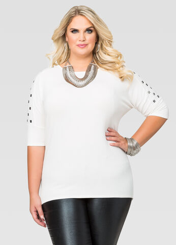 Pyramid Stud Dolman Top