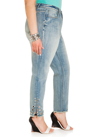 Destructed Safety Pin Jeans