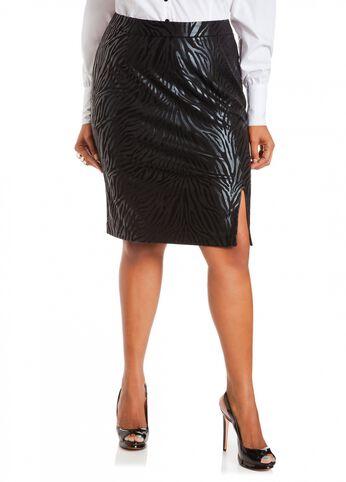 Ponte Animal Print Skirt