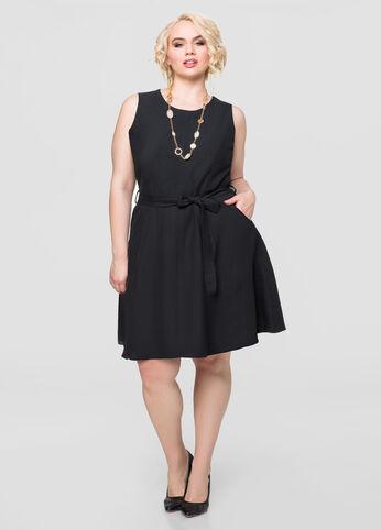 Linen Skater Dress