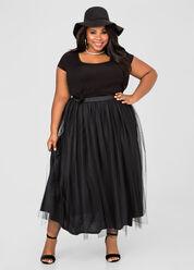 Tulle Maxi Skirt
