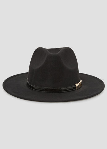 Buckle Top Band Panama Hat
