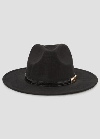 Buckle Top Band Panama Hat