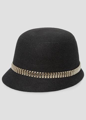 Metal Hardware Felt Hat