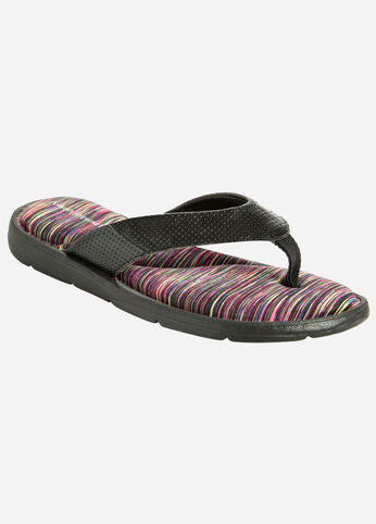 Memory Foam Thong Sandal - Wide Width