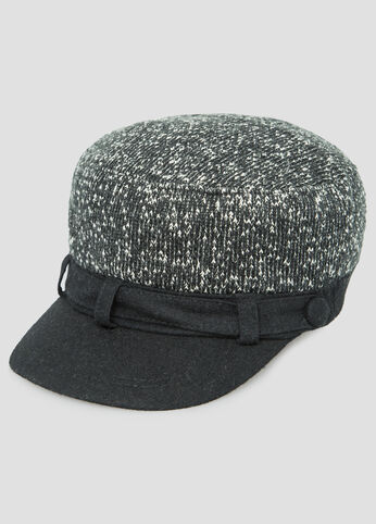 Marled Knit Newsboy Hat