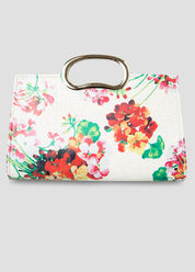 Framed Floral Clutch