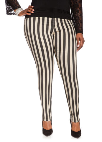 Neutral Stripe Jeggings
