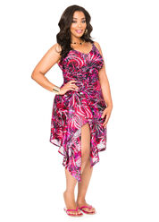 Spiral Print Cover Up