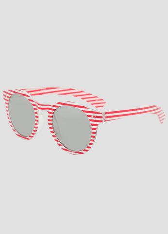 Round Striped Patriotic Sunglasses