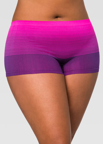 Seamless Ombre Stripe Boyleg Panty